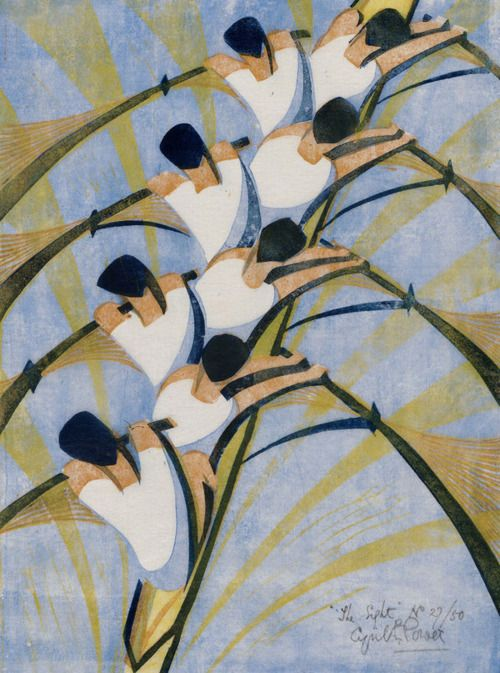 Cyril E. Power (English, 1872–1951) - The Eight, about 1930    Museum of Fine Arts, Boston