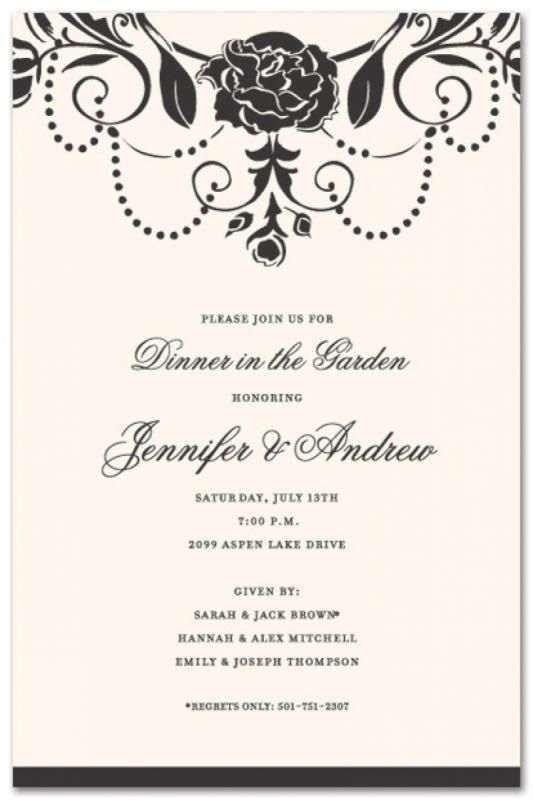 Formal Invitation Template template Brunch invitations