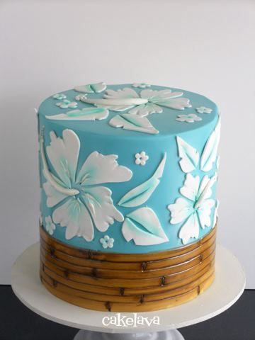 Hibiscus cake - Cakelava....great for a Luau