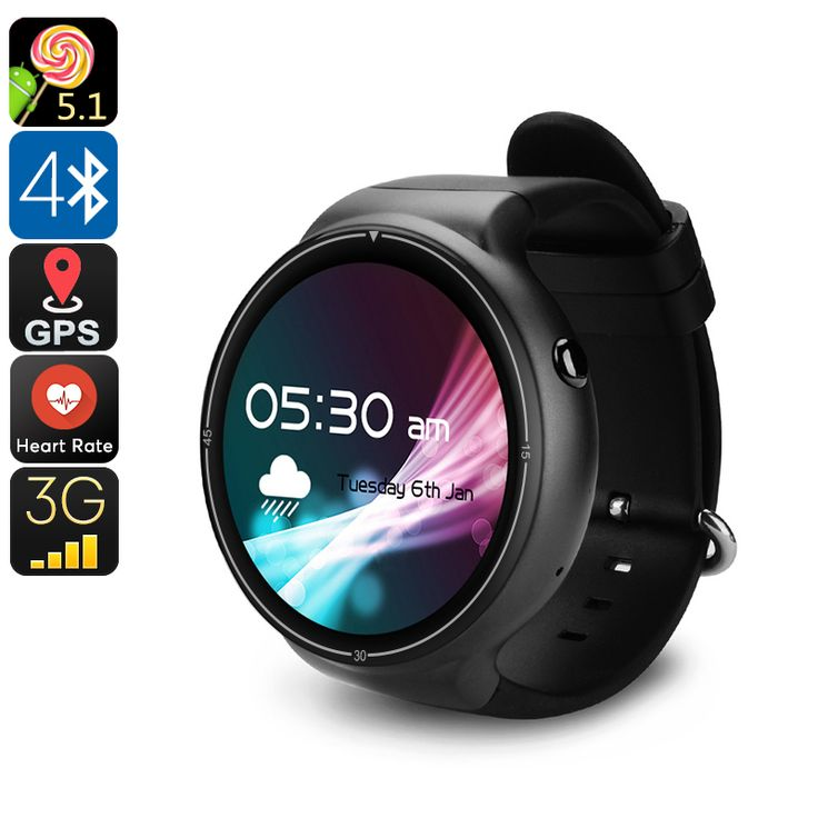 IQI I4 Pro Android Watch Phone - Bluetooth 4.0, WiFi, GPS, 1 IMEI, 3G, Pedometer, Heart Rate Monitor, Android 5.1, Quad-Core CPU - The IQI I4 Pro Android Watch Phone lets you enjoy all Android features and engage in phone calls straight from your wrist. With 3G, you can even surf the web.