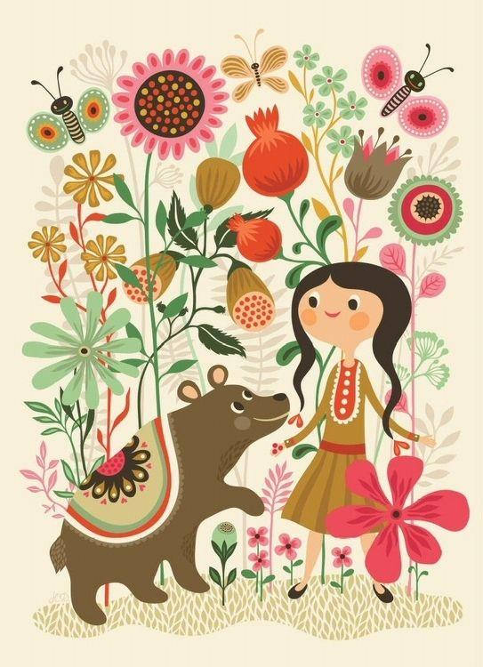 Helen Dardik poster Wild dream bear 50x70 from www.kidsdinge.com https://www.facebook.com/pages/kidsdingecom-Origineel-speelgoed-hebbedingen-voor-hippe-kids/160122710686387?sk=wall