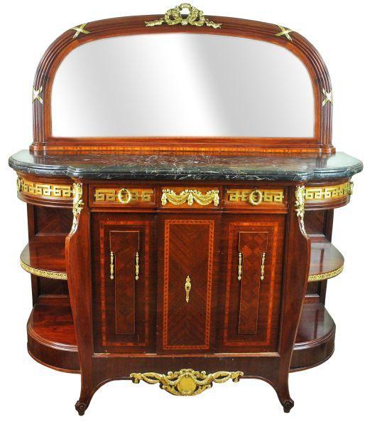 165-Bélissima comoda buffet em madeira nobre no estilo Luis XVI da manufatura Leandro Martins,