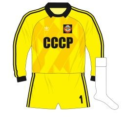 USSR goalkeepers kit for Euro '88.