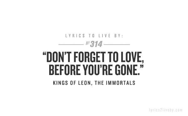 Kings Of Leon. my favorite band ever. makes me want to cry for no reason just thinking about it!