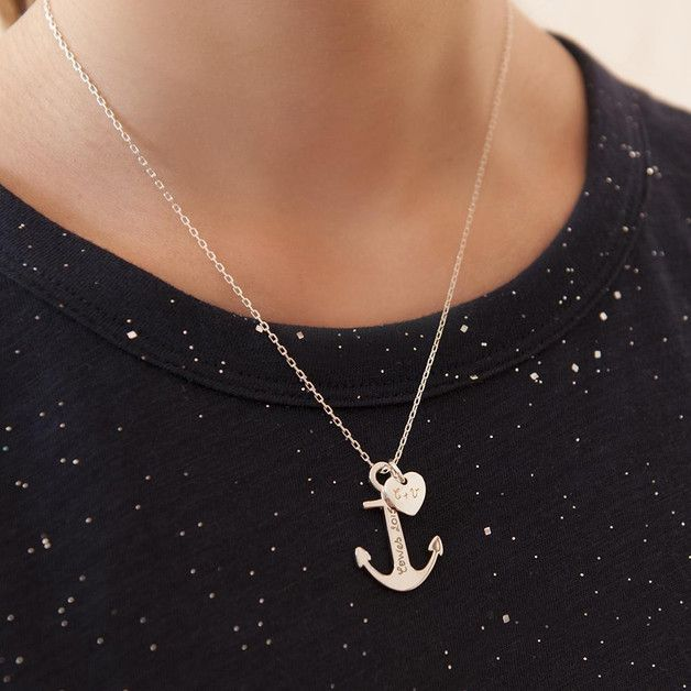 Kette mit Ankeranhänger / necklace with anchor by MerciMaman via DaWanda.com
