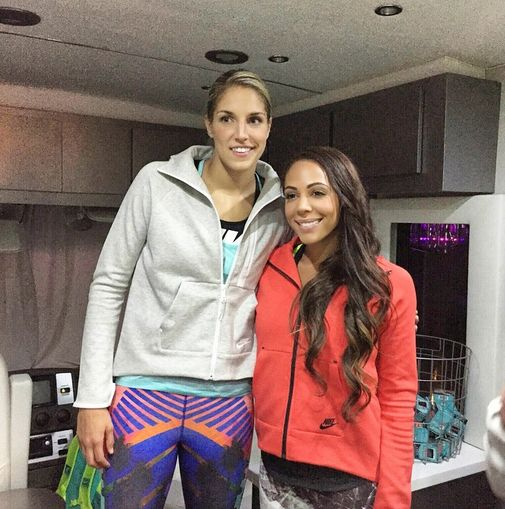 Sydney Leroux and Elena Delle Donne of the WNBA. (Instagram ...