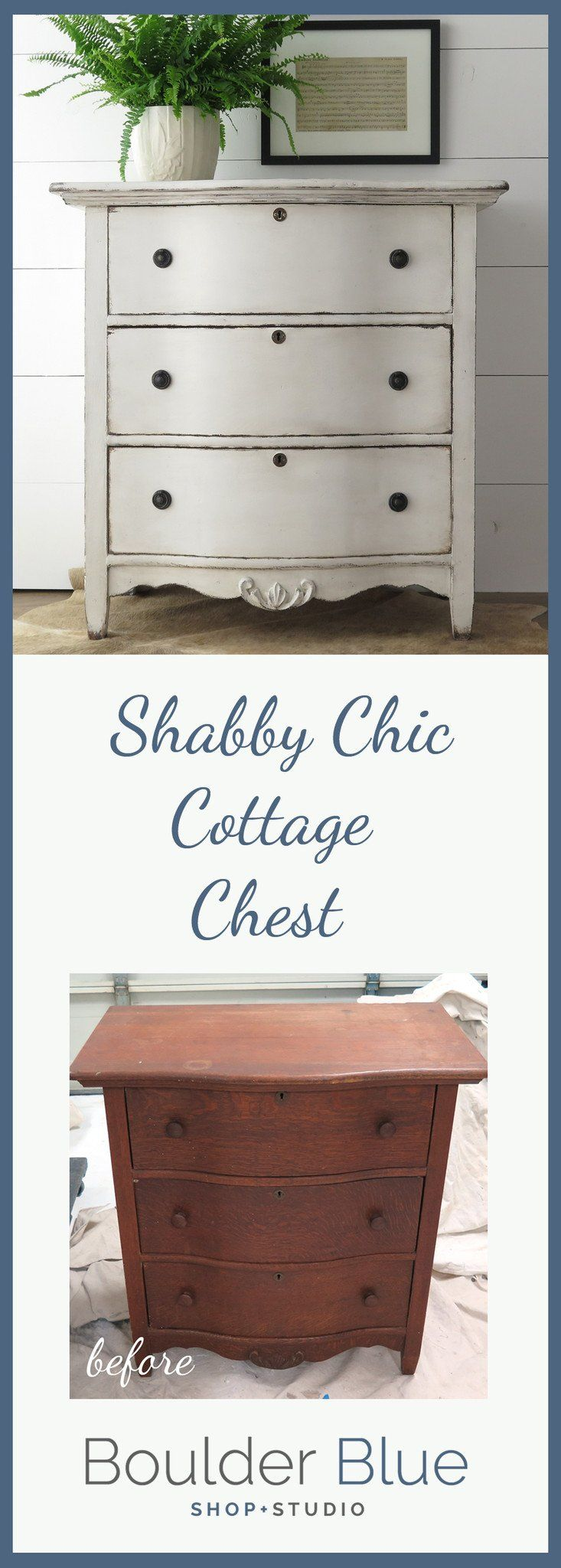 Antique Painted Chest pin