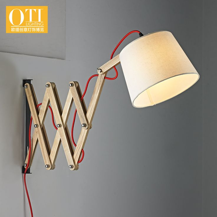 Cheap wall flood light, Buy Quality wall decals for kids rooms directly from China wall lamp Suppliers: 	OTI Lighting Wooden Wall Lamp Nordic Pastoral Simplicity Creative Retractable Wall Lights							Brand: OTI Lighting	Mod