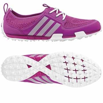 Flash Pink/Running White Adidas Ladies Climacool Ballerina II Golf Shoes at