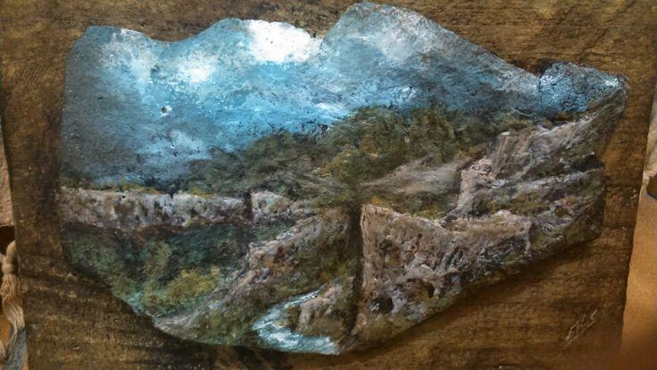 Cuadro de piedra Paisaje Valle