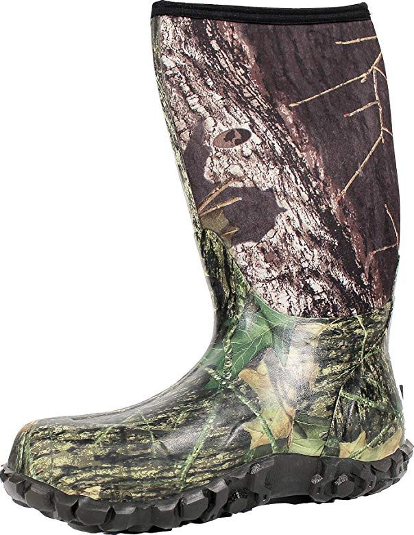 Bogs Men S Classic High Waterproof Insulated Rain Boot Mossy Oak 14 D M Us Rubber Hunting Boots Boots Hunting Boots