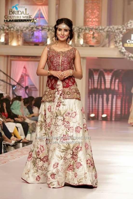 #erum khan #pakistani designer on pentene #bridal coutour week #2015june pinned by #sidra younas