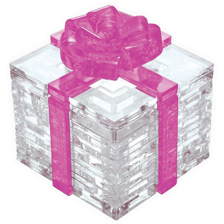 BePuzzled 38-pc. Pink Bow Gift Box 3D Crystal Puzzle, Multicolor