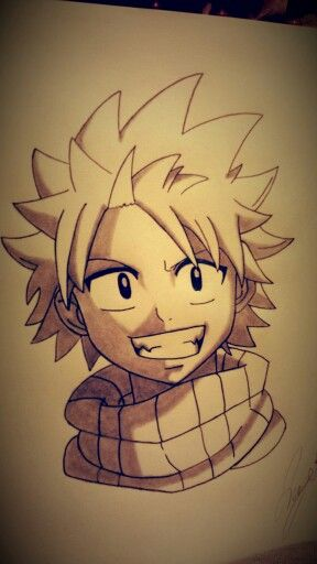 My drawing of Natsu Dragneel