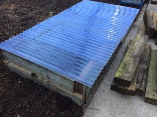 The final coldframe will protect overwintering plants
