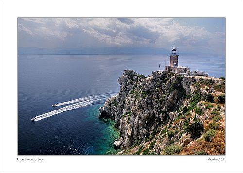 The #lighthouse at the end of Cape #Iraeon, near #Loutraki town, #Greece #travel #ttot #travelling2GR #visitGReece #photo via: Alexis Bazeos http://www.flickr.com/photos/alexring/5799499703/