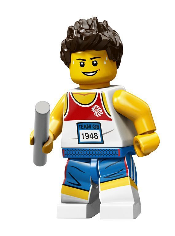 Relay Runner Team GB Olympic Minifigures All Minifigure packets will be opened to guarantee the correct Minifigure – Comes complete with opened packets leaflet and accessories