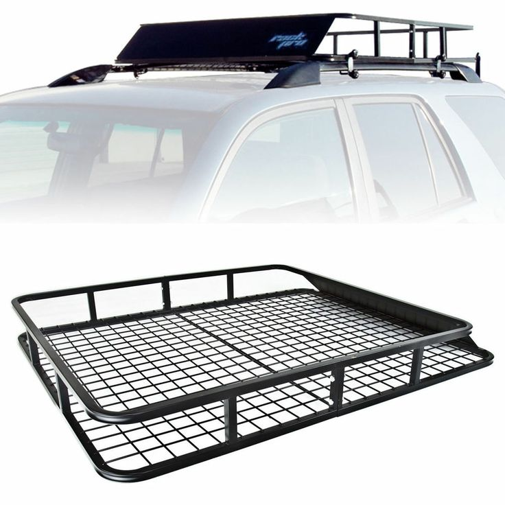 Universal Roof Rack Cargo Car Top Luggage Carrier Basket Traveling SUV Wagons