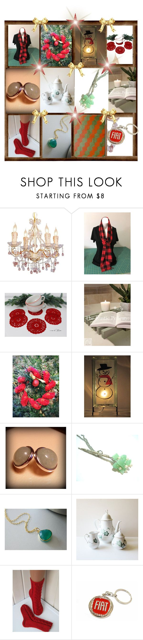 Red and Green by cozeequilts on Polyvore featuring rustic