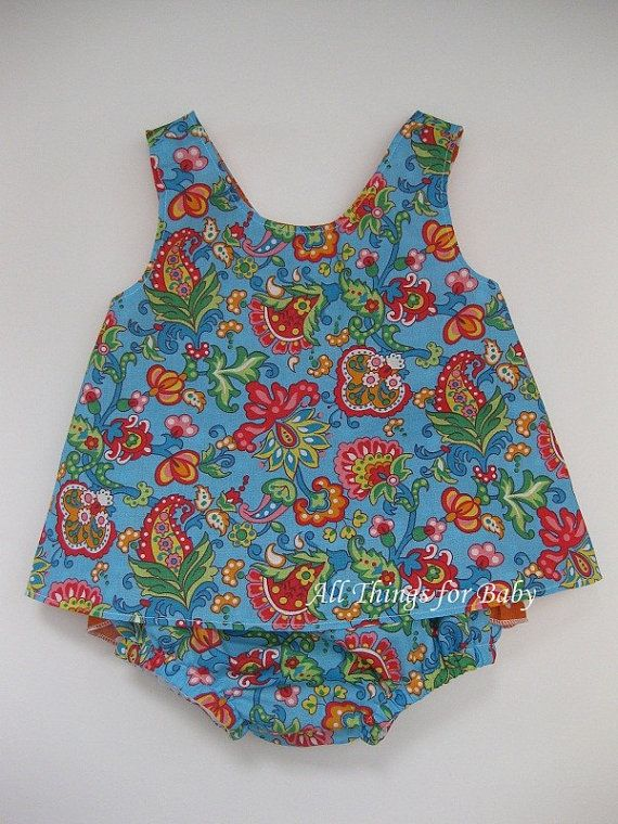 Baby toddler girls pinafore diaper cover by allthingsforbaby