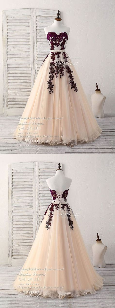 Burgundy sweetheart tulle lengthy promenade costume, burgundy night costume