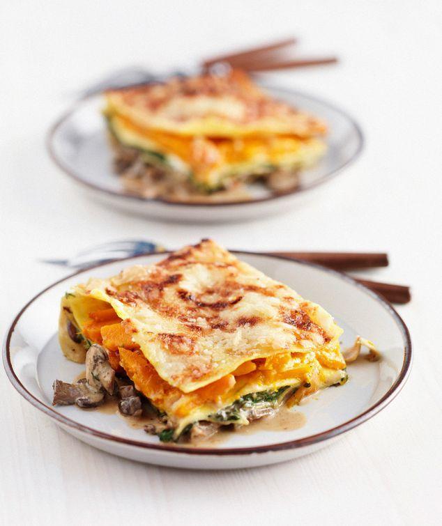vega lasagne met spinazie, pompoen en paddenstoelen | ZTRDG magazine