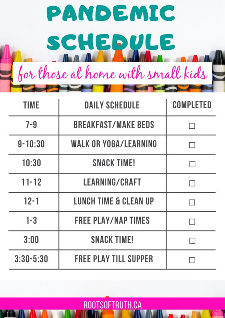 A Realistic Stay At Home Mom Schedule For Kids Under 6 Kids