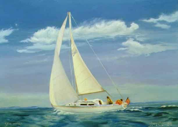 Caribbean Blue Boat Paint
