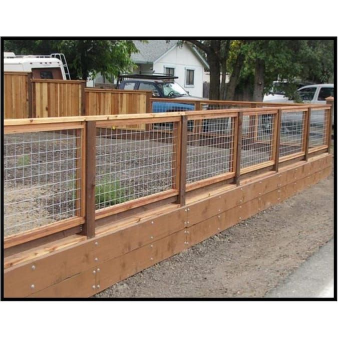 Tarter Actual 4 166 Ft X 16 Ft 10 Wire Stock Panel 10 Wire Stock Panel Steel Farm Fence Panel Lowes Com In 2020 Hog Wire Fence Wire Fence Wire Fence Panels
