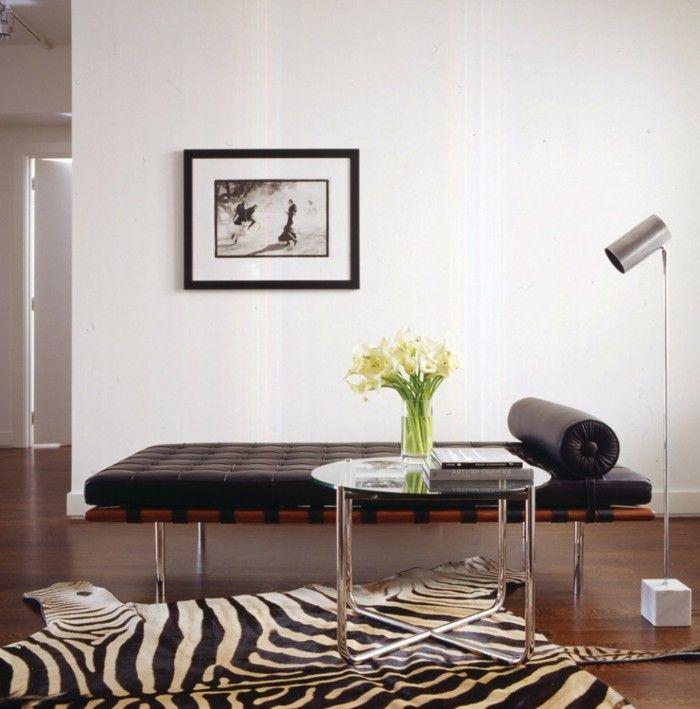 Die besten 25+ Zebra teppiche Ideen auf Pinterest - moderne teppiche fur wohnzimmer