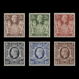 Great Britain 1939 (Unused) High Value Arms Definitives