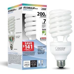 Full Spectrum Light Bulbs Home Depot: Feit Electric 150W Equivalent Daylight (6500K) Spiral CFL Light Bulb,Lighting