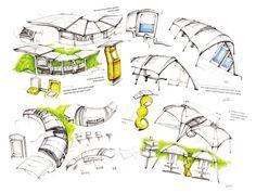2008 Beijing Olympic Bus Station Design by Qianru Zhang at Coroflot.com