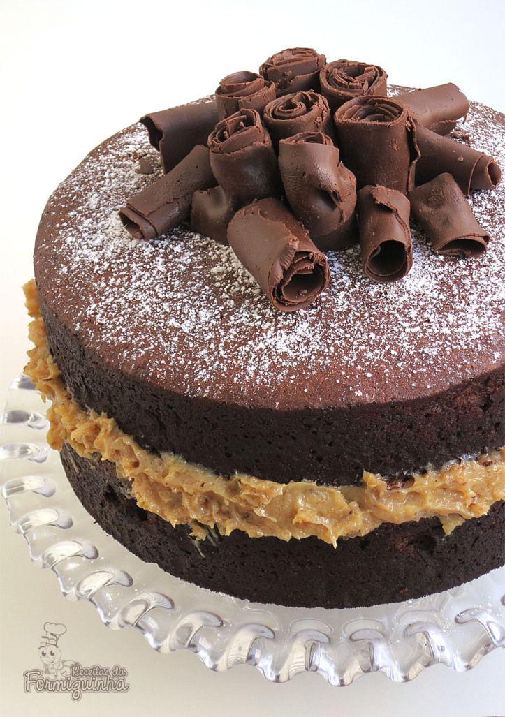 Naked Cake de Chocolate com Brigadeiro de Nozes                                                                                                                                                     Mais