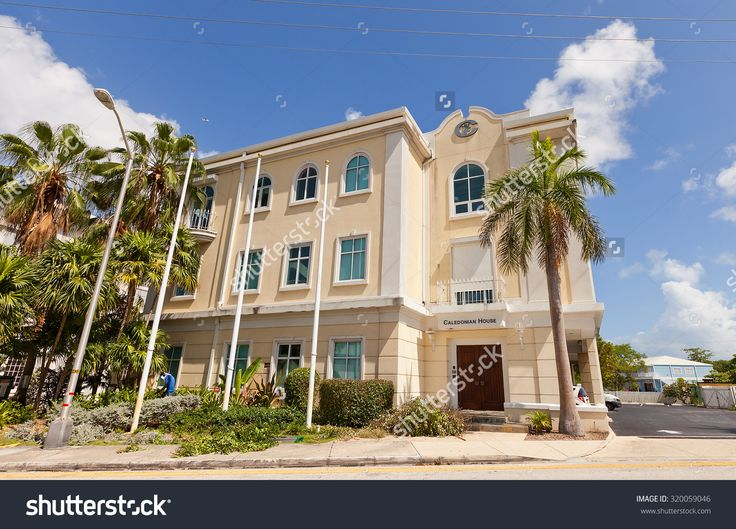 GEORGE TOWN, CAYMAN ISLANDS - SEPTEMBER 19, 2015: Caledonian House (circa XX c.) in George Town of Grand Cayman (British Overseas Territory).