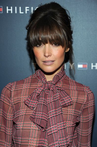 I'm kinda obsessed with her bangs. But I don't know if I could pull them off.