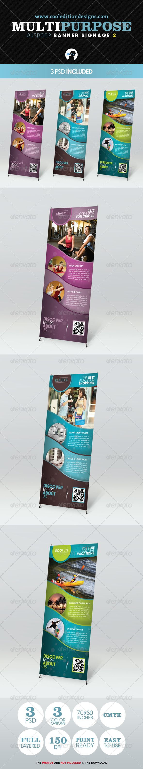 Multipurpose Outdoor Banner Signage 2 — Photoshop PSD #display #fashion • Available here → https://graphicriver.net/item/multipurpose-outdoor-banner-signage-2/2414364?ref=pxcr