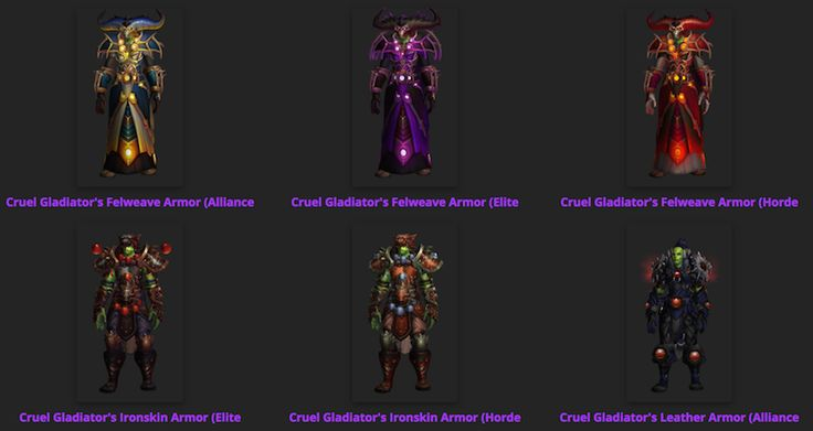 Wowhead Transmog Sets Updated for Patch 7.2