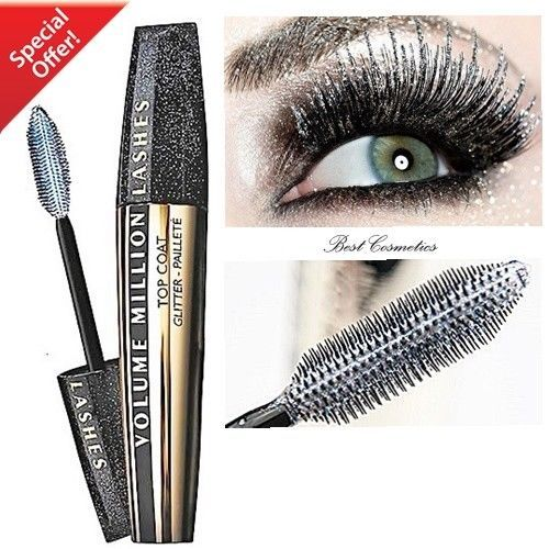 883c23d28d4 L'Oreal Volume Million Lashes Top Coat Glitter Mascara Hologram Gel Effect  9ml #LOral