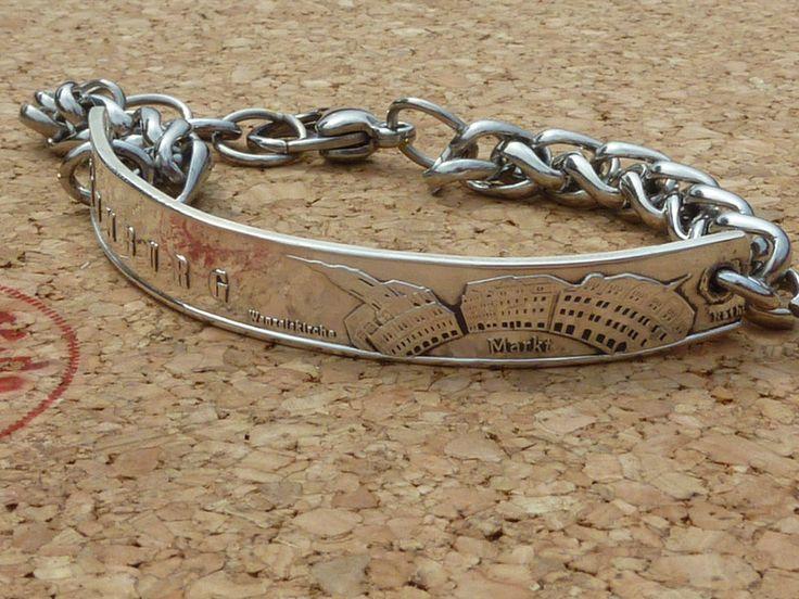 Silberarmbänder - Armband,Unisex,aus Naumburger Münze(999S),L:21,5cm - ein Designerstück von schmuck-checker bei DaWanda