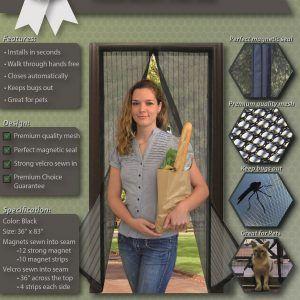 Magic Mesh Instant Magnetic Screen Door & Curtain