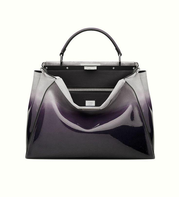 The Fendi large Peekaboo handbag with dégradé black effect.
