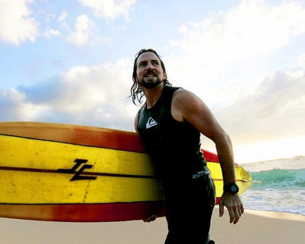 Eddie Vedder, Waimea Bay, Haleiwa, Hawaii. (Reuters/Gentry/Landov/Rolling Stone)