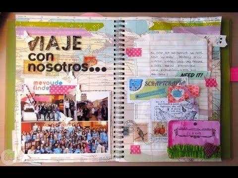 Smash Book Terapia: 25.03.13 *Cómo hacer un diario de Scrap* Smash book tutorial