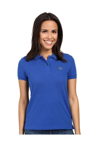 FOR SALE!!!  LACOSTE CLASSIC WOMEN POLO SHIRT (ROYALE BLUE) With Euro double tag, Made in Peru Designed in France print with devanlay care tag inside Two mother of pearl buttons Thick stitches on hem Crocodile applique on the left chest