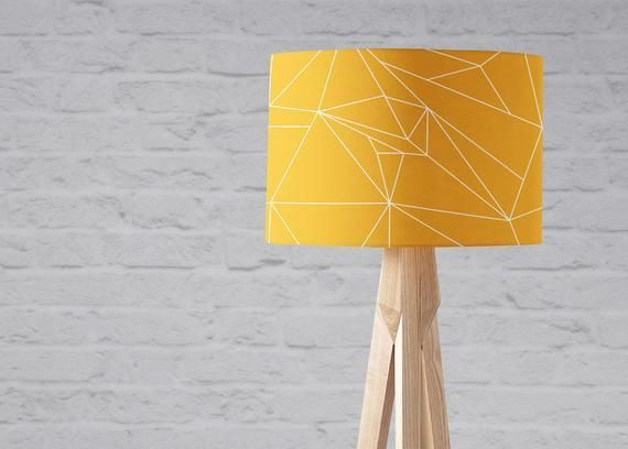 Grey And Mustard Living Room Mustard Yellow Lampshade Geometric Lampshade Yellow Lamp Yellow Light Shades Geometric Lampshade