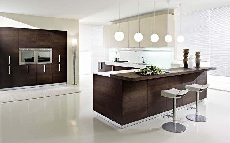 clean kitchen, walnut cabinets, melamine white uppers