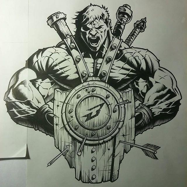 1 of 26 new designs that will come to you from Brazil in the new year ✌ #Brazil #Bodybuilding #ifbb #TheNewSymbolOfHardcore #ComingIn2017 #hardcoregymrats #illmax #gymrats #metalheadstraininggear #HowToDrawMonsters #JerryBeck #JerryBeckArt #illustratusMaximus  #IllMaxComics #ImageComics  #DCcomics  #IDW #MarvelComics  #DynamiteComics #BoomComics #AftershockComics #DarkHorseComics #ValiantEntertainment #CarveYourOwnPath #JoeKubertSchool #comicbooks @gabrielgralato