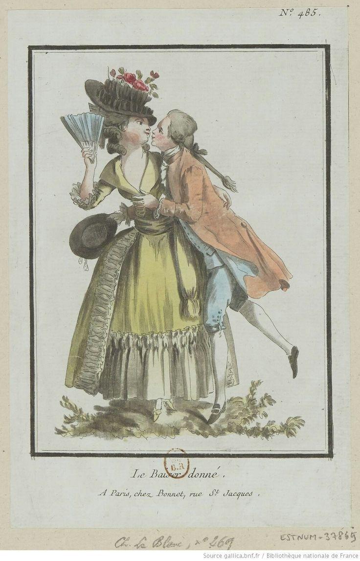 : Le Baiser donné. : [estampe] / [Louis-Marin Bonnet] Auteur : Bonnet, Louis-Marin (1743-1793). Graveur