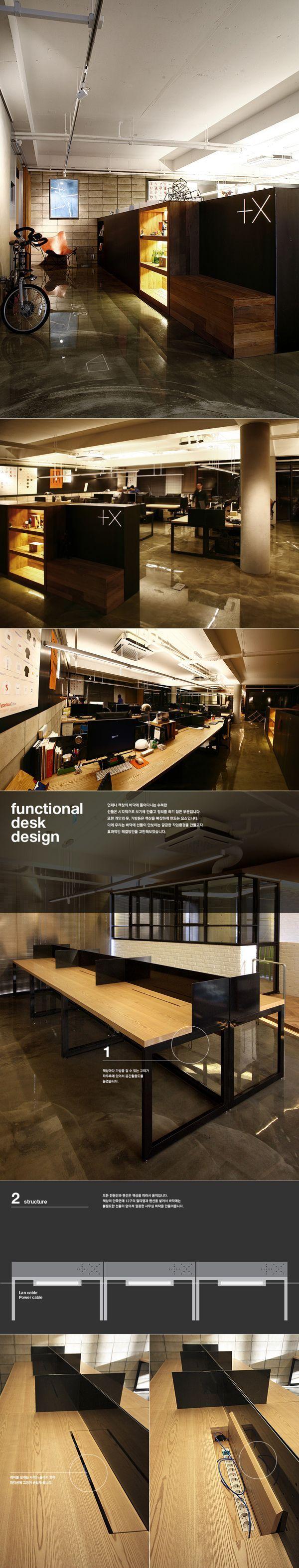 Plus X New Office Space Design by Plus X , via Behance: